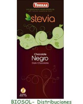 Chocolate negro STEVIA 60 % cacao 100gr -TORRAS -TORRAS