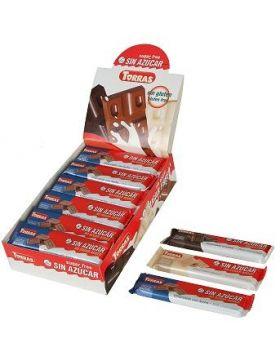 Chocolatinas Blanco 30 grs s/a sin gluten .