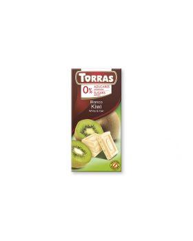 Chocolate blanco + Kiwi 75grs s/a , sin gluten .