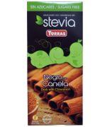 Chocolate STEVIA negro + Canela 125grs .