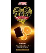 Chocolate ZERO Negro con Naranja 125 gr