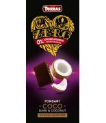 Chocolate ZERO Negro con Coco 125 gr