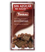 Chocolate con leche, avellana 75grs. s/a,sin glu.