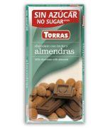 Chocolate con leche,almendra 75grs s/a,sin glu .