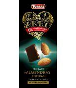 Chocolate suprer negro+almendras 150grs .