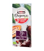 Chocolate BIO 79%Negro Cacao Griollo s/a 100gr TORRAS