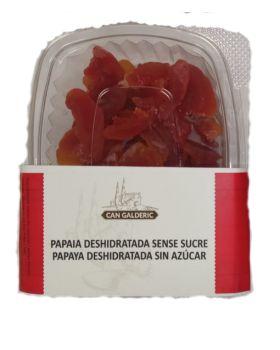 Papaya SIN AZUCAR 100% fruta deshidratado 120gr CAN GALDERIC