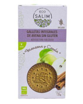 Galleta de Avena - Canela y Manzana BIO - Vegan- S/G 135gr ECOSALIM