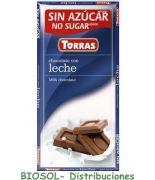 Chocolate con leche 75grs s/a , sin gluten .